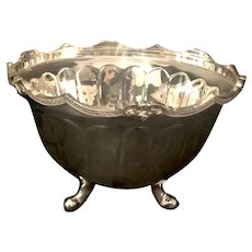 Large Silver Plated Centerpiece Footed Bowl Serving Wine / Ice Bucket