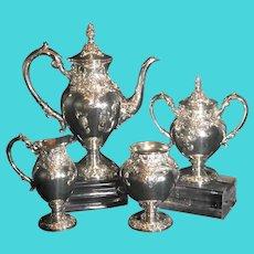 "Vintage Lundt ""Eloquence"" Silver Plate Tea Set / Coffee Pot"