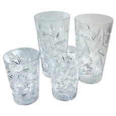 "American Cut Crystal ""Juliette"" Tumblers and Liquor Glasses"