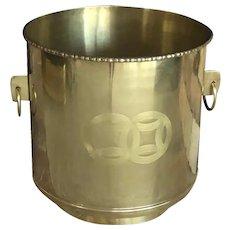 Crafts Inc Solid Brass Large Planter Mid-Century Modern
