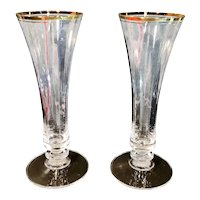 Vintage Mikasa Jamestown Crystal Vases /Champagne Glasses