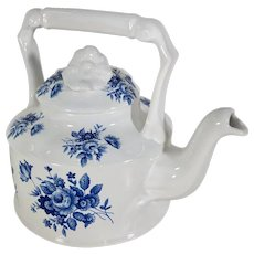 Arthur Wood China Tea Pot Blue and White Collectible English Decor