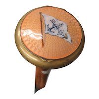 Malacca Wood Compact Brass & Enamel Cane