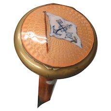 Malacca Wood Compact Brass & Enamel Cane