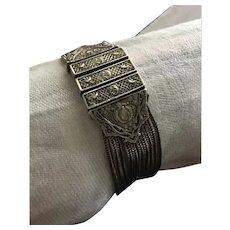 Ethnic Sterling Silver Bracelet