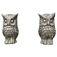 Tane Sterling Silver Owls of Superb Weight
