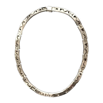 Old Taxco Sterling Silver Necklace