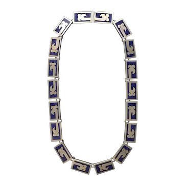 Old Taxco  Silver Necklace