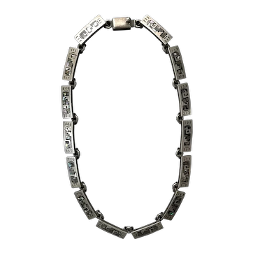 Crushed Stone and Sterling Necklace