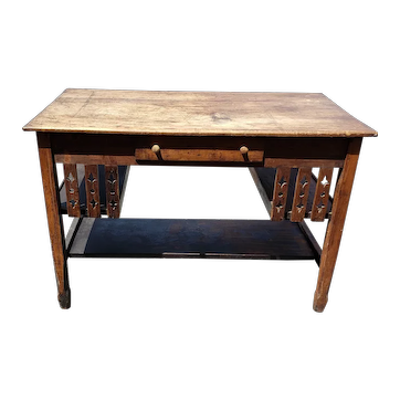 Late 19th Century Cherrywood Library Desk