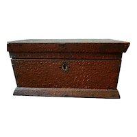 Early 20th Century Lock Box with Unique Patina