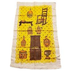 Rustic Yellow Vintage Tea Towel