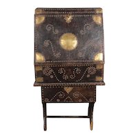 18th Century Brass Nailed Leather Traveling Chest