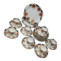 C. W. S. Windsor Tea Cups & Saucers