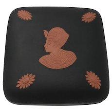 Wedgewood Black Basalt Egyptian Motif Trinket Box