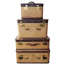 Vintage Amelia Earhart 4 piece Luggage Set