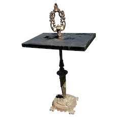 19th Century Cast Iron and Stone Outdoor Table