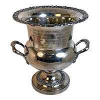Champagne Ice Bucket Trophy Silver Plate