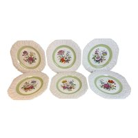 Cuthbertson Finland  Set of Six Floral Salad Plates