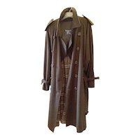 Men's Burberry Westminster Wool Trench Coat XL 50RL Dark Military Khaki