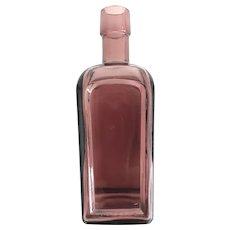 Vintage Wheaton NJ Purple Glass Medicine Bottle