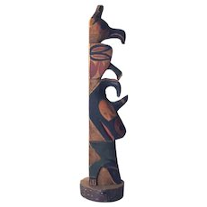 Vintage Small Northwest Totem with early paint