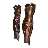 Pair Mid-Century Ceramic Female Figure Wall Hangings