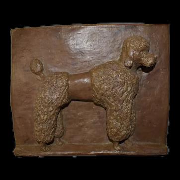 Ceramic Relief Plaque of Poodle