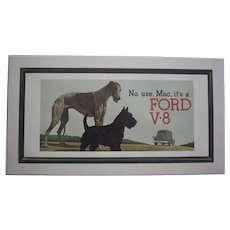 Ford Advertising Ad showing Greyhound and Scottie circa 1930s
