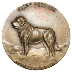 Westminster Kennel Saint Bernard Dog Medallion