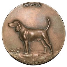 Bronze Westminster Kennel Beagle Medallion