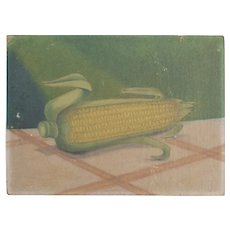 Folk Art painting of Ear of Corn on masonite