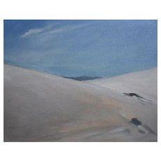 Original oil on board, White Sands, New Mexico #3