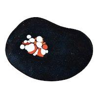 Organic shape Mid-Cent Enamel Copper Plate