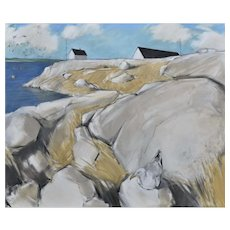 Original oil painting of Peggy's Cove, Nova Scotia