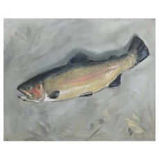 Original oil painting of Brown Trout