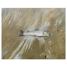 Original oil painting of Small Trout
