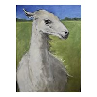 Original oil painting of a Llama