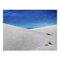 Original oil painting of White Sands, New Mexico