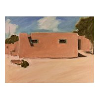 "Original oil on Board, Taos Pueblo, New Mexico 9"" X 12"""