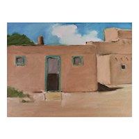"""Original oil on Board, Taos Pueblo, New Mexico 9"""" X 12"""""""