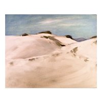Original oil on board, White Sands, New Mexico #1