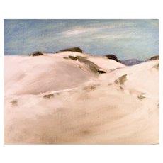 Original oil on board, White Sands, New Mexico #1