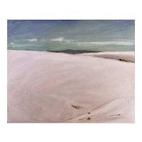 Original oil on board, White Sands, New Mexico #2