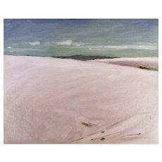 Original oil on board, White Sands, New Mexico #2