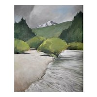 "Original oil painting of the Blue River, Colorado 22"" X 28"""