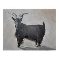 "Original oil painting on board ""Goat #1"", 11"" X 14"""