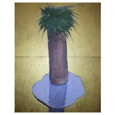 "Original oil painting on canvas ""Cactus #3"", 16"" X 20"""