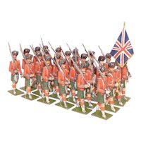 Georg Heyde - large - 74mm high - Marching Scottish Troops, 24pcs