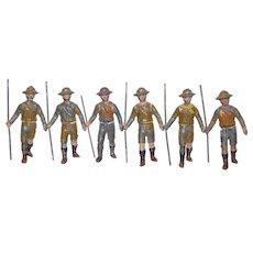 Renvoize pre WW1 Boy Scouts. 6pcs